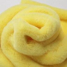 Разноцветный см 1,5 см длинный искусственный мех кролика ткань пушистый мех tissu stoffen для DIY аксессуары одежда обивка width160cm