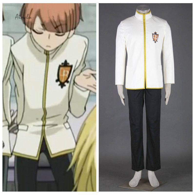 Ainclu Hot Ouran High School Host Club Anime Junior Male Uniform Halloween Cosplay Costume Customize for adults and kids