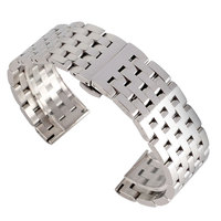 Luxury Watch Band Metal High Quality Replacement Stainless Steel Silver 2 Spring Bars 20mm 22mm Bracelet