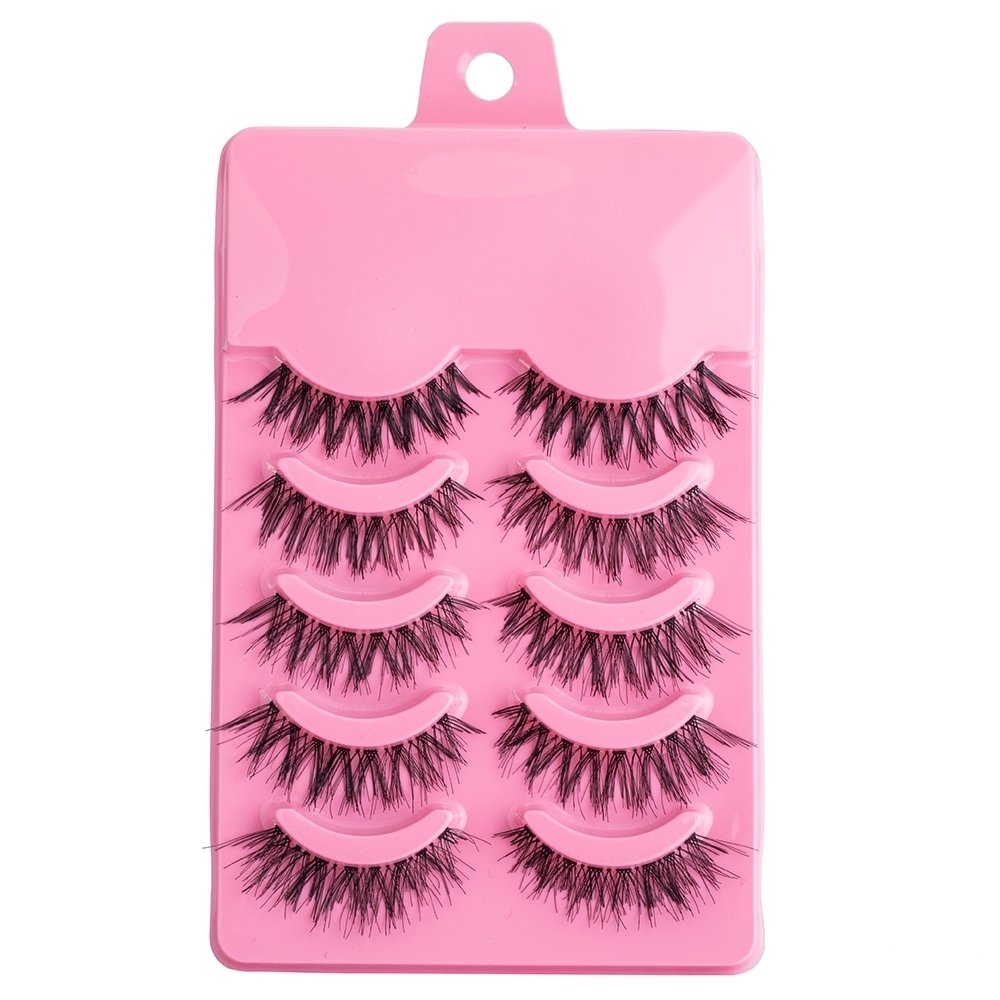 TOMTOSH 5 Pairs False Eyelashes Extensions Natural Thick Long Fake Eyelashes Hand Made Eye Lashes Makeup Tool Lash Crisscross Ci(China)