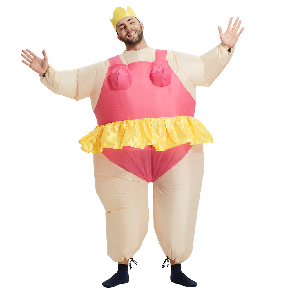 Adult  size Inflatable Costume Funny Fancy Dresses Adult Chub Suit Inflatable Ballerina Costumes  for Halloween party event