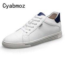 3e7c21aad الرجال المصاعد حذاء كاجوال جديد 6 CM ارتفاع زيادة انقسام أحذية من الجلد  الرجال الأزياء الفتيان رياضية طالب حذاء فاخر