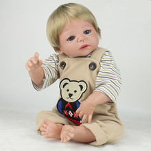 Newborn Silicone Bebe Doll Reborn Cotton Body 22 Inch Vinyl Realistic Collectible Doll Reborn Baby Simulator Dolls Juguetes Gift