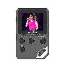 2016 a estrenar mrobo c5 8g de alta definición de audio sin pérdidas de alta fidelidad reproductor de música portátil mini deporte reproductor de mp3 de apoyo grabación