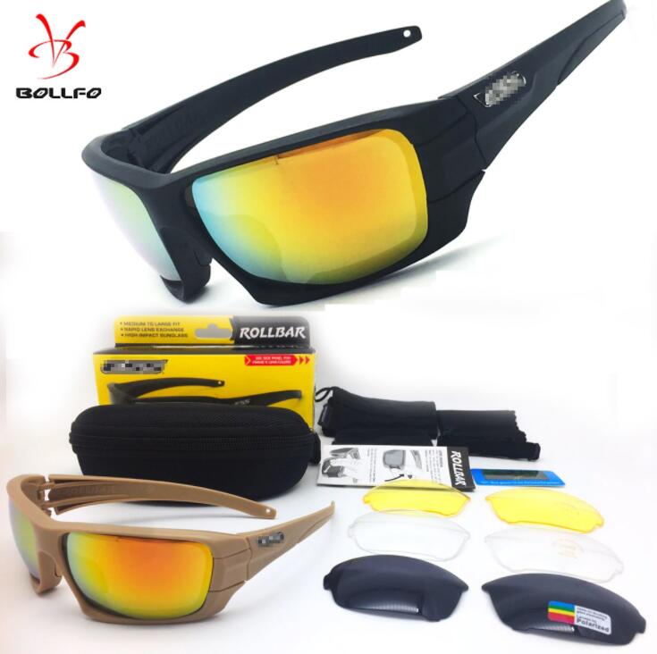 New Rollbar Polarized Tactical 4 lens Sunglasses UV protection Military Glasses TR90 Army Googles Bullet-proof Cycling Eyewear цена