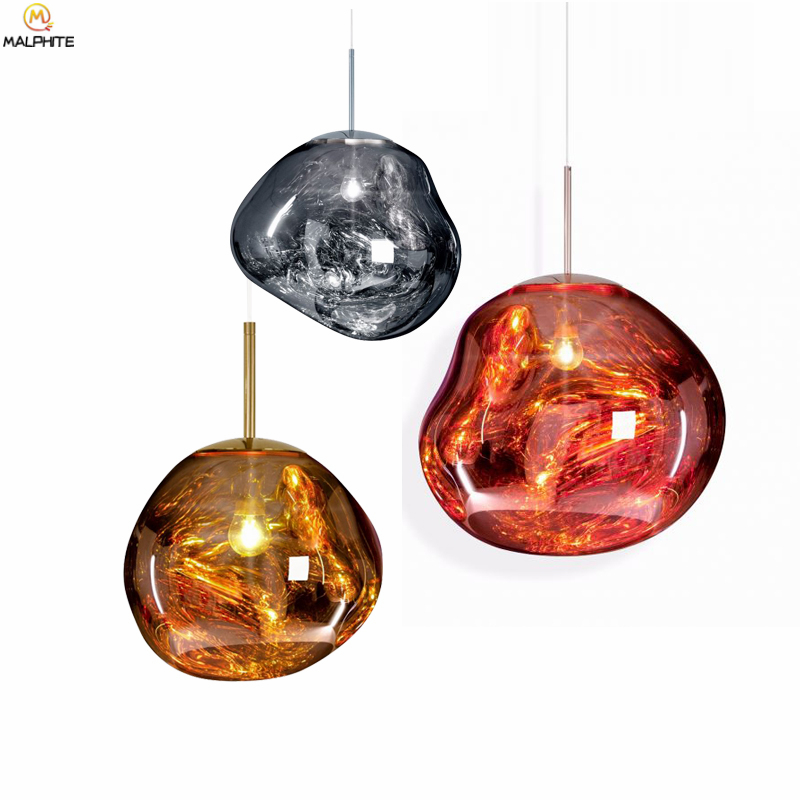 Modern 30/40CM Lava Pendant Lights Tom Dixon Color Glass Lampshade Hanging Pendant Lamp Living Room Bedroom Hanglamp LampModern 30/40CM Lava Pendant Lights Tom Dixon Color Glass Lampshade Hanging Pendant Lamp Living Room Bedroom Hanglamp Lamp