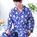 2017 Winter Mens Pyjama Sets Long Sleeve Cardigan Men Flannel Pyjamas Suits Male Sleepwear Nightwear Loungewear L-3XL Fashion