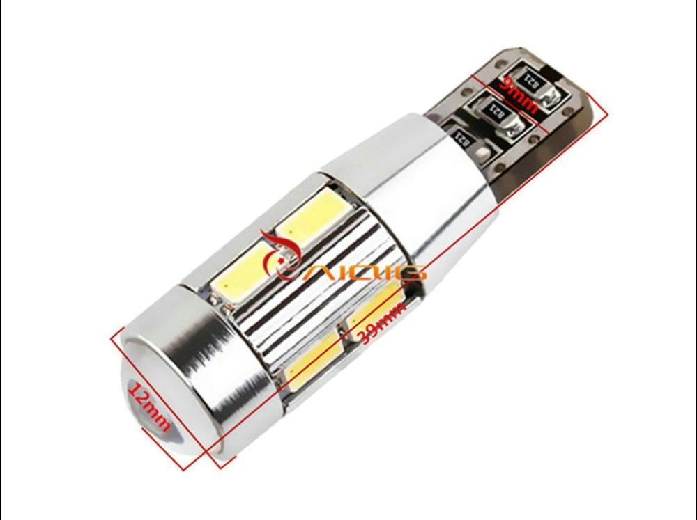 T10 W5W 5630 SMD 화이트 CANBUS OBC 오류 LED 램프 501 대시 - 자동차 조명 - 사진 5