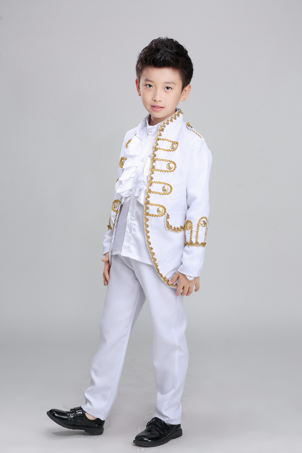 Free ship children's boys medieval suit prince stage performance costume renaissance cosplay one set is jacket,pants with shirt!