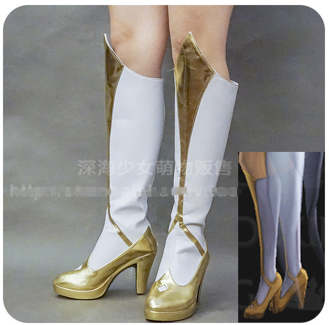 2017 Anime Game LOL Star Guardian Elementalist LUX Light Cosplay Shoes Custom-made Highly Reduction For Women Free Shipping