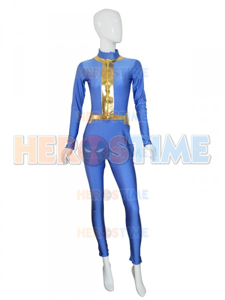 2017 Custom Made Anime Fallout 4 Male Sole Survivor Nate game Cosplay Costume Halloween Zentai Lycra