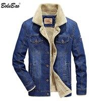 BOLUBAO 2018 Winter Men Fashion Denim Jacket Mens Fashion Casual Jacket Men Brand Jacket Slim Fit Denim Coats Male