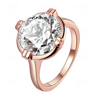 2019 Fashion New arrive Zircon Jewelry Rose Gold Ring for woman Men jewelry to choose gift Wholesale