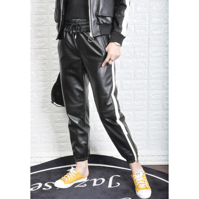2019 New Fashion Genuine Sheep Leather Pants Y47 in Pants amp Capris from Women 39 s Clothing