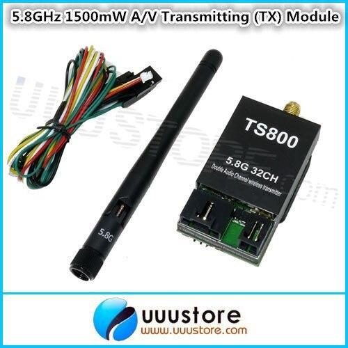 Skyzone FPV 5.8GHz 1500mW 32CH A/V Transmitting (TX) Module TS800 RP-SMA skyzone fpv 5 8ghz 1500mw 32ch a v transmitting tx module ts800 rp sma