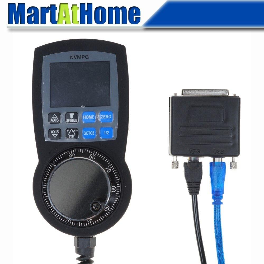USB Naar Parallelle Poort CNC Kit-6 Axis MPG Met Handwiel & LCD Voor Laptop # SM771 @ SD