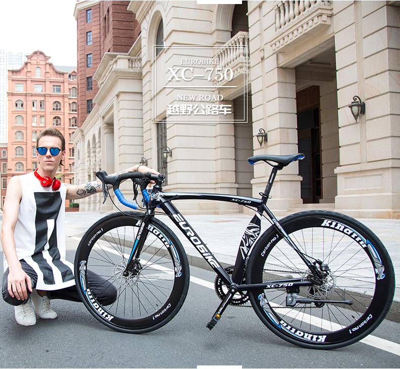 New Road Bike 14/16 sürətli 700C * 52cm velosiped Alüminium - Velosiped sürün - Fotoqrafiya 3