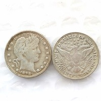 90 Silver 1898 Barber Quarter Dollars Retail Wholesale USA Copy Coins