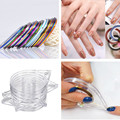 6pcs/set New Design DIY Nail Art Striping Tips Tape Line Case Transparent Box Nail Line Roll Sticker Tape Holder Without Tape Z2