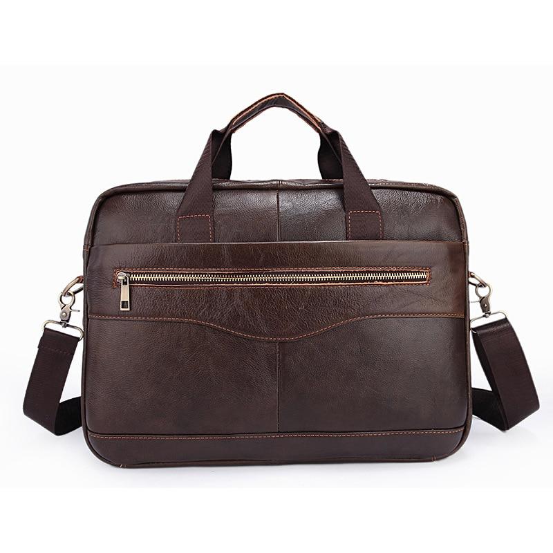 Genuine Leather bag Business Men bags Laptop Tote Briefcases Crossbody bags Shoulder Handbag