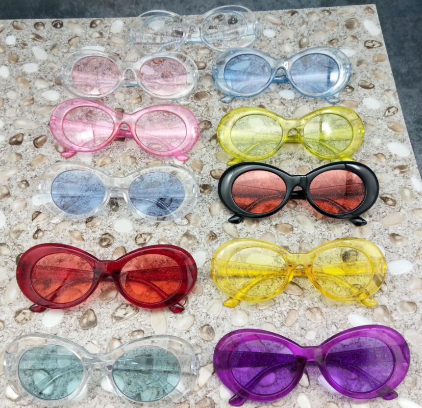 eb176eaaa2 DOKLY claro ojo de gato Oval gafas de sol bella hadid Instagram gafas de sol  bella hadid Vintage NIRVANA, Kurt Cobain, ronda de gafas de sol ...