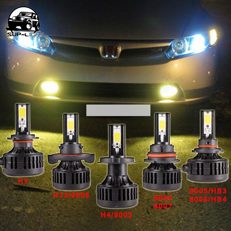 72W <font><b>6600Lm</b></font> 3000k Auto cob <font><b>led</b></font> headlight bulb 12v <font><b>H4</b></font> H13 <font><b>led</b></font> bulb with heat dissipation fan for Honda <font><b>LED</b></font> HEADLIGHT DRL fog lamp