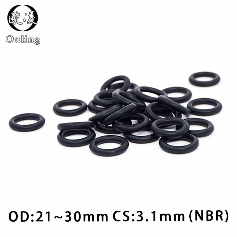 20PCS/lot Rubber Ring NBR Sealing O-Ring 3.1mm Thickness OD21/22/23/24/25/26/27/28/29/30mm O Ring Seal Nitrile Gasket Oil Ring