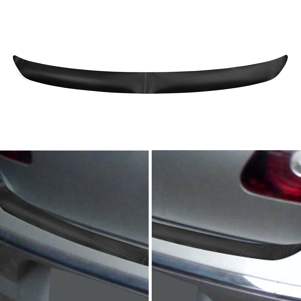 FORAUTO <font><b>Carbon</b></font> Fiber Sticker And Decals 1pc 108x7cm with Self Adhesive Rear Bumper Sticker For VW <font><b>Golf</b></font> MK6 R20 Trim Protector image