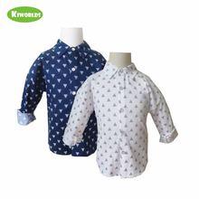 Классическая Весенняя рубашка высокого качества для мальчиков