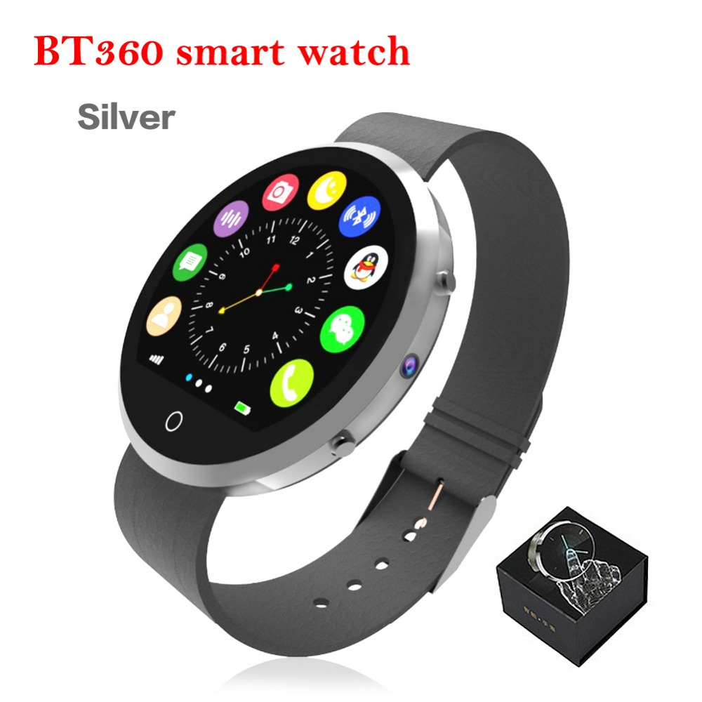 Fashion Newest Smart Watch BT360 Pedometer Sedentary Blutooth SmartWatch Sleeping Monitor Mini Camera Support call sms
