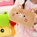 Winter Cute Cartoon Plush Toys Hand Warmer Cartoon  Animals Soft Hand Hold Warm Plush Cotton Toy  Cushion Pillow Birthday Gift