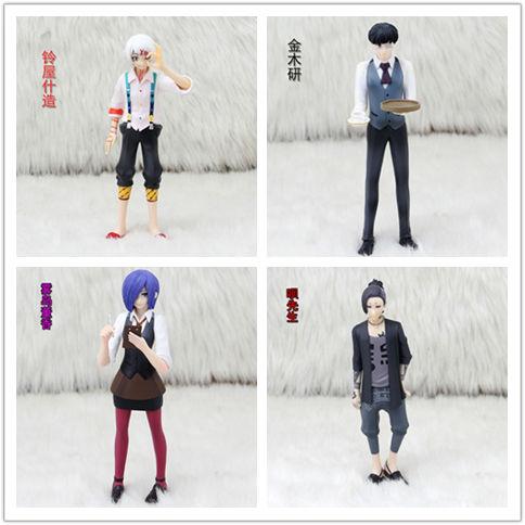 Anime Tokyo Ghoul Kaneki ken Kirishima Toka No Face Suzuya juzo PVC Action Figure Collectible Model doll toy 15cm