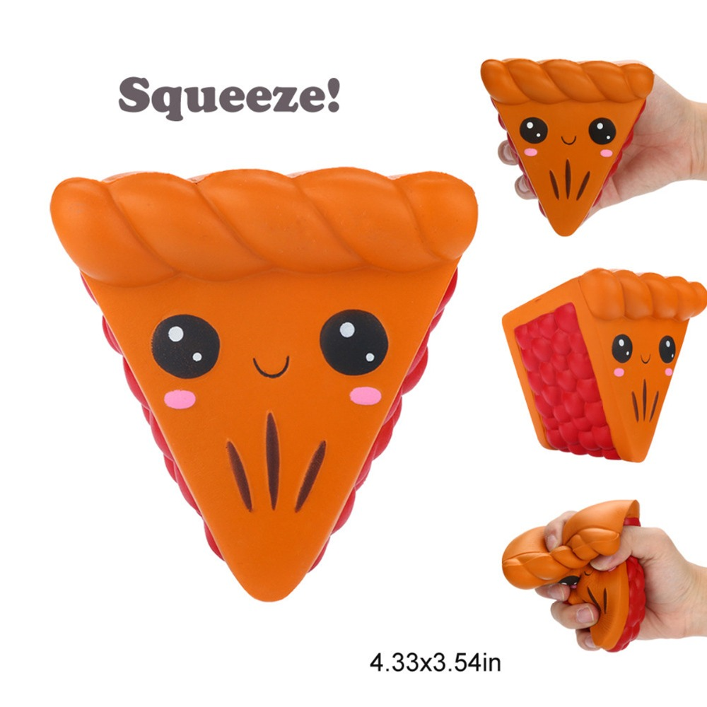 Indah Segitiga Asli Kawaii Konyol Licin Cartoon Pizza Pesona