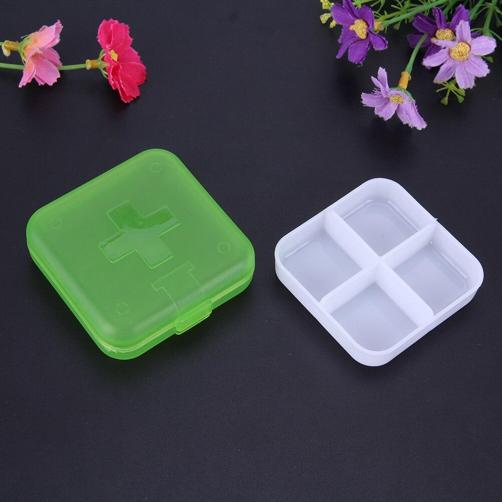 4 Slots Square Travel Pill Cases Outdoor Vitamin Cases Medicines Pill Box Portable Medicine Holder Pastillero 11