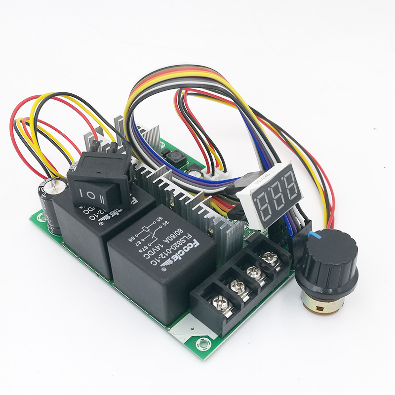 Digital display PWM speed controller  DC motor 0~100% adjustable drive module Input 12V 24V 40A