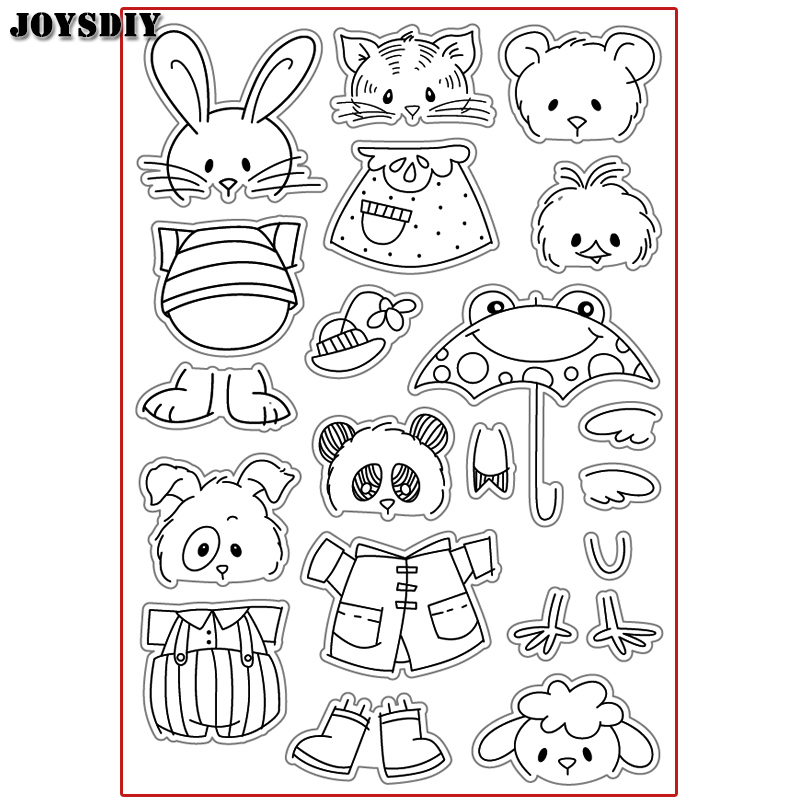 CUTE CATE PANDA DOG FACE DIY Scrapbook DIY photo cards account rubber stamp clear stamp transparent stamp Handmade card stamp scrapbook diy photo cards account rubber stamp clear stamp transparent stamp ancient lady hanger mirror paris 14x18cm sd136