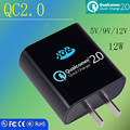 JDB Quick Charge 2.0 with Qualcomm Certificated 18W Wall Charger EU US Plug for Samsung Galaxy SONY HTC