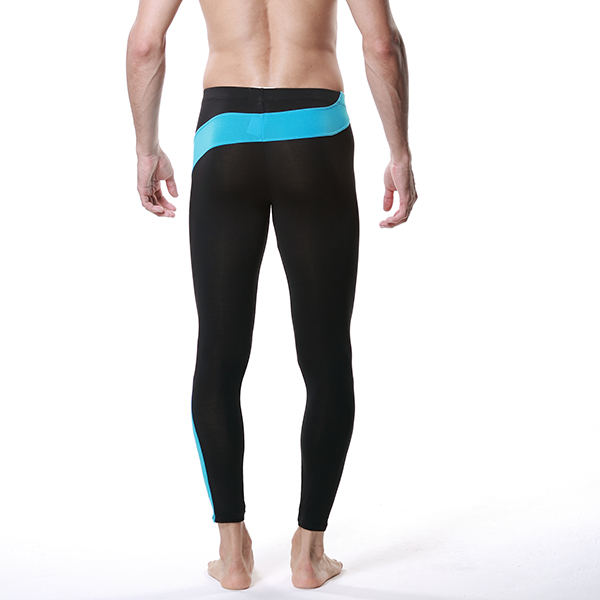 Sport Men Modal Long Thermal Pants Low Rise Trousers Underwear Legging Shorts Y6