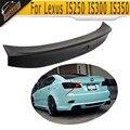 W Style PU Unpainted Black Primer Rear trunk boot lip spoiler wings For Lexus IS250 IS300 IS350 2007 2008 2009 2010 2011 2012 13