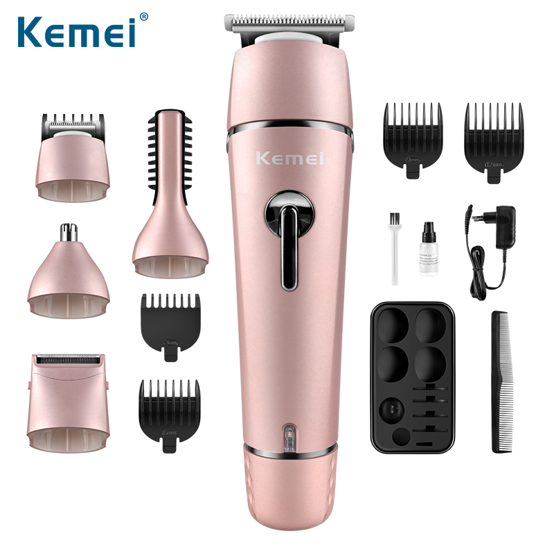цена Kemei Multifunction Rechargeable Hair Trimmer Multifunction Hair Clipper Washable Electric Shaver Nose Trimmer Men Styling Tools
