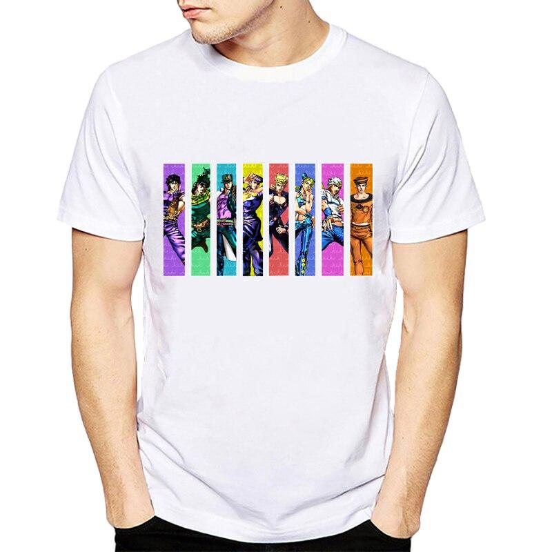 Джоджо невероятные приключения All Star Футболка Дизайн Манга аниме футболка классная забавная футболка Стиль Для мужчин с принтом модная фут...