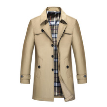 Mens Trench Coat Male Blazer Designs Slim Fit Business Casual Suit Jacket Spring Autumn Trench Jackets Windbreaker Plus size 9XL