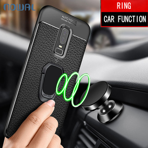 Carbon Fiber Case For OnePlus 6 6T 5 5T Magnetic Metal Ring Soft Silicon Case Car Holder Cover For One Plus 6T 6 5 T 3T 3 7 Pro(China)