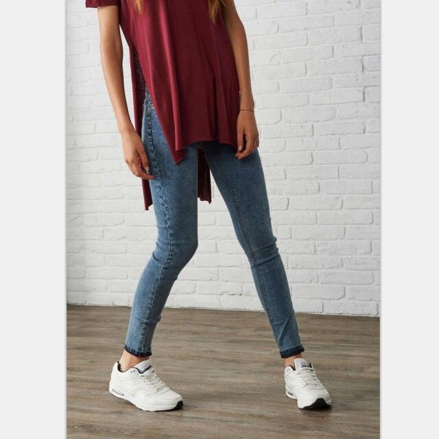 2016 Luz Azul Escuro Do Floco De Neve das Mulheres Denim Fino Do Vintage Jeans Casual Estiramento Magros Fêmea Meados de Cintura Calças Elásticas Plus Size tamanho
