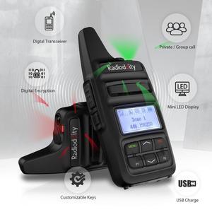 Image 5 - Radioddity GD 73 A/E UHF/PMR מיני DMR SMS חמה שימוש מותאם אישית מפתח IP54 USB תכנית & תשלום 2600mAh 2W 0.5W שני בדרך כיס רדיו