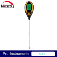 Nicety PH Meter Soil Survey 4 in 1 Temperature Moisture PH Sunlight Digital LCD Display for Plants PH Value