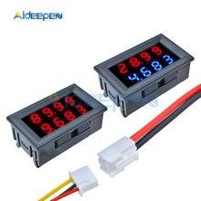 цена на 1PCS 0.28 inch DC 0-200V 10A Voltmeter Ammeter Red+Blue /Red+Red LED Amp Dual Digital Volt Meter Detector Gauge LED Display