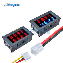1 Uds 0,28 pulgadas CC 0-200V 10A voltímetro amperímetro rojo + azul/rojo + rojo LED Amp doble voltímetro Digital Detector medidor pantalla LED