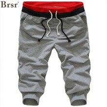 Brsr/ Новое поступление, модные прямые укороченные штаны, шаровары, шерстяные штаны средней плотности с карманами и завязками
