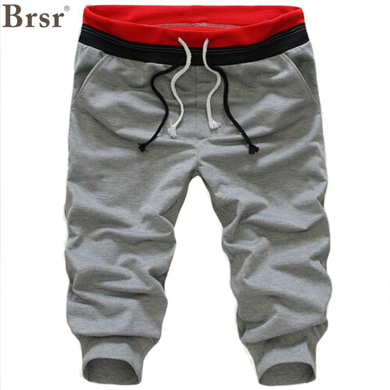 2018 New Arrival Brsr Fashion Regular Low Calf-length Pants Harem Pants Midweight Flat Woolen Drawstring Pockets Pants